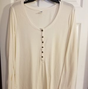 Old Navy long sleeved Henley tee